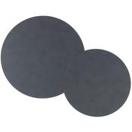 LINDDNA 981555 CLOUD anthracite Подставка под горячее из переработанной кожи круглая, диаметр 24/30 см, набор 2шт, фото 1