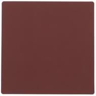 LINDDNA 981804 NUPO red Подстаканник из натуральной кожи квадратный 10x10 см, толщина 1,6 мм, фото 1