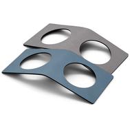LINDDNA 98236 NUPO light blue/light grey Кольцо для салфетки из кожи 6х14см, набор 2шт, фото 1