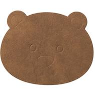 LINDDNA 983375 NUPO nature Подстаканник из натуральной кожи МЕДВЕЖОНОК диаметр 12 см, толщина 1,6 мм, фото 1