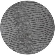 LINDDNA 98620 CROCO silver-black Подстановочная салфетка из натуральной кожи круглая, диаметр 24 см, толщина 2мм, фото 1