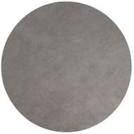 LINDDNA 98867 HIPPO anthracite-grey Подстановочная салфетка из натуральной кожи круглая, диаметр 40 см, толщина 1,6 мм, фото 1