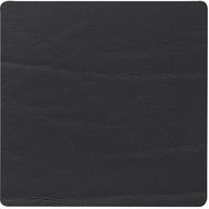 LINDDNA 98887 BUFFALO black Подстаканник из натуральной кожи квадратный 10x10 см, толщина 2мм, фото 1