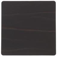 LINDDNA 98888 BUFFALO brown Подстаканник из натуральной кожи квадратный 10x10 см, толщина 2мм, фото 1