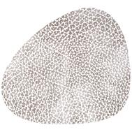 LINDDNA 98925 HIPPO white-grey Подстаканник из натуральной кожи фигурный 11x13 см, толщина 1,6 мм, фото 1
