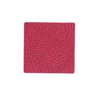 LINDDNA 983514 HIPPO raspberry Подстаканник из натуральной кожи квадратный 10x10 см, толщина 1,6 мм, фото 1