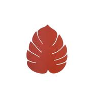 LINDDNA 990086 NUPO sienna Подстаканник из натуральной кожи лист монстеры 14х12 см, толщина 1,6мм, фото 1