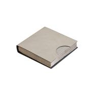 LINDDNA 989852 NUPO light grey/anthracite Салфетница кожаная 17х17см, фото 1