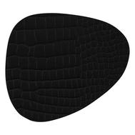 LINDDNA 9884 CROCO black Подстаканник из натуральной кожи фигурный 11x13 см, толщина 2мм, фото 1