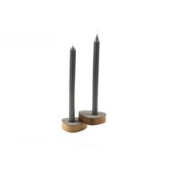 LINDDNA 981757 NUPO light grey подсвечник для высоких свечей, фигурный 8х10х2,5см, набор 2шт, фото 1