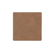 LINDDNA 981188 NUPO brown Подстаканник из натуральной кожи квадратный 10x10 см, толщина 1,6 мм, фото 1