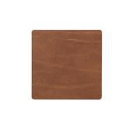 LINDDNA 98889 BUFFALO nature Подстаканник из натуральной кожи квадратный 10x10 см, толщина 2мм, фото 1