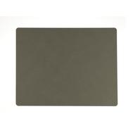 LINDDNA 982480 NUPO army green Подстановочная салфетка из натуральной кожи прямоугольная 35x45 см, толщина 1,6 мм, фото 1
