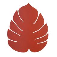 LINDDNA 990084 NUPO sienna Подстановочная салфетка из натуральной кожи лист монстеры 42х35 см, толщина 1,6мм, фото 1
