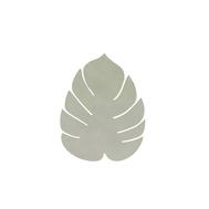 LINDDNA 989964 NUPO olive green Подстаканник из натуральной кожи лист монстеры 14х12 см, толщина 1,6мм, фото 1
