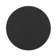 LINDDNA 981878 NUPO black Подстановочная салфетка из натуральной кожи круглая, диаметр 30 см, толщина 1,6 мм, фото 1