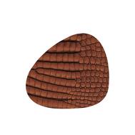 LINDDNA 9883 CROCO cognac Подстаканник из натуральной кожи фигурный 11x13 см, толщина 2мм, фото 1