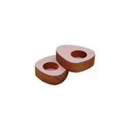LINDDNA 9842 NUPO rose подсвечник для чайных свечей, фигурный 8х10х2,5см, набор 2шт, фото 1