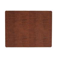 LINDDNA 98325 CROCO cognac Подстановочная салфетка из натуральной кожи прямоугольная 35x45 см, толщина 2мм, фото 1