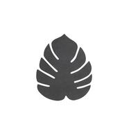 LINDDNA 990074 NUPO black Подстаканник из натуральной кожи лист монстеры 14х12 см, толщина 1,6мм, фото 1