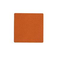 LINDDNA 981300 HIPPO orange Подстаканник из натуральной кожи квадратный 10x10 см, толщина 1,6 мм, фото 1