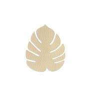 LINDDNA 990089 HIPPO gold Подстаканник из натуральной кожи лист монстеры 14х12 см, толщина 1,6мм, фото 1
