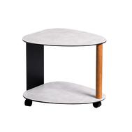 LINDDNA 98958 Hippo white-grey журнальный столик двухъярусный 39х44х38см, фото 1