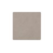 LINDDNA 981186 NUPO light grey Подстаканник из натуральной кожи квадратный 10x10 см, толщина 1,6 мм, фото 1