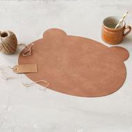 LINDDNA 983128 NUPO nature Подстановочная салфетка из натуральной кожи Медвежонок 38x30 см, толщина 1,6 мм, фото 1