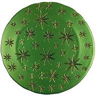 Блюдо круглое Nachtmann Golden Stars - 32см, зеленое - арт.99658, фото 1