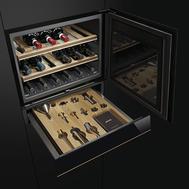 Винный шкаф Smeg, встраиваемый, 60см - арт.CVI618RWNX2, фото 1