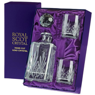 Набор для виски Highland Royal Scot Crystal - штоф и 2 стакана - арт.HIGHBWSET, фото 1