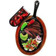 Набор для фахитос Lodge: сковорода овальная, подставка, прихватка - арт.LFSR3, фото 1