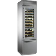 Винный холодильник Smeg, отдельностоящий, нержавеющая сталь, 60см - арт.WF366RDX, фото 1
