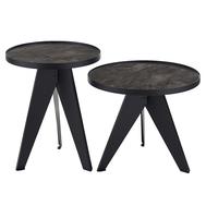 Berg Набор кофейных столиков Carrero черный, 2 шт. - арт.AK-TS018, фото 1