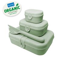 Koziol Набор из 3 ланч-боксов и столовых приборов PASCAL Organic зеленый - арт.3168668, фото 1