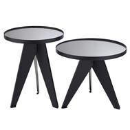 Berg Набор кофейных столиков Carrero зеркальный серебристый, 2 шт. - арт.AK-TS017, фото 1