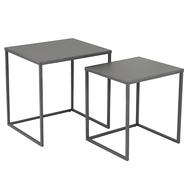 Berg Набор кофейных столиков Velluto, антрацитовый, 2 шт. - арт.AK-TS021, фото 1
