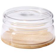 Емкость для сыра/миска для салата Continenta, каучуковое дерево 26,5х26,5х13 см - арт.013.040701.043, фото 1