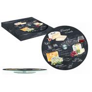 Easy Life (R2S) Блюдо стеклянное для сыра (вращающееся) Мир сыров 32см, стекло - арт.R2S441_WOCH-AL, фото 1