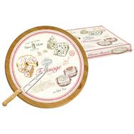 Easy Life (R2S) Блюдо для сыра вращающееся 32см (бамбук/стекло) + нож Fromage - арт.EL-0888_FRMA, фото 1