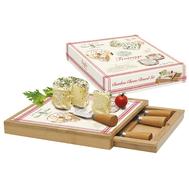 Easy Life (R2S) Набор для сыра: доска, выдвижной ящик с 4-мя ножами, бамбук/стекло Fromage 25x25x4см - арт.EL-0891_FRMA, фото 1