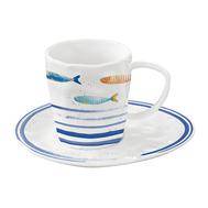 Easy Life (R2S) Чашка с блюдцем Морской берег0.25л, фарфор - арт.EL-R1985_BORD, фото 1