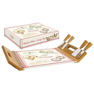 Easy Life (R2S) Поднос/доска для сыра с 4-мя ножами, бамбук/стекло Fromage - арт.EL-0890_FRMA, фото 1