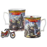 Carmani Кружка с брелоком Мотоцикл Харлей - Дэвидсон Спортстер 883, юноша 0.5л, костяной фарфор - арт.CAR2-016-5301, фото 1