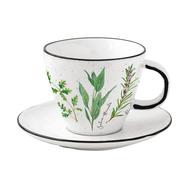 Easy Life (R2S) Чашка с блюдцем Herbarium 0.25л, фарфор - арт.EL-R2204_HERU, фото 1