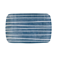 Easy Life (R2S) Блюдо прямоугольное (синий с белыми полосками) Бриз 27.5х18см, фарфор - арт.EL-R2412_BRZE, фото 1