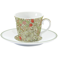 Easy Life (R2S) Чашка с блюдцем (зелёный) Уильям Моррис 0.2л, фарфор - арт.EL-R1106_WILG, фото 1