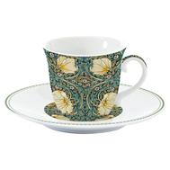 Easy Life (R2S) Чашка с блюдцем (темно-зелёный) Уильям Моррис 0.2л, фарфор - арт.EL-R1106_WILB, фото 1