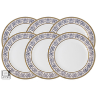 Anna Lafarg Emily Набор из 6 закусочных тарелок Престиж 20,5см, костяной фарфор - арт.AL-XR11Q04G_6DSP-E6, фото 1